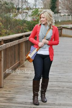 Red cardi... LOVE THIS OUTFIT!!!!