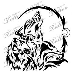Marketplace Tattoo Three wolf tribal #14631 | CreateMyTattoo.com