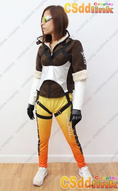 OVERWATCH Tracer Fanart Cosplay Costume with glasses - CSddlink cosplay