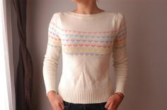 Perfect White 80s Sweater by TheSeaRobinsSong on Etsy, $26.00