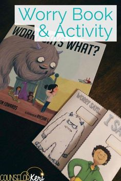 If you're looking for a book about worry to help your students, you'll love Worry Says What and this free printable activity! Do you have students who struggle with worries or anxiety? This book address school anxiety, social anxiety, and everyday fears t Anxiety Activities, Counseling Activities, Therapy Activities, Book Activities, Therapy Ideas, Play Therapy, Therapy Games, Leadership Activities, Therapy Tools