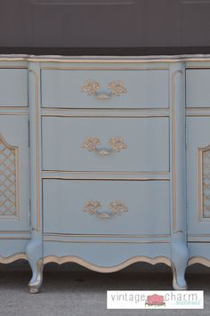 FrenchProvincialDresserMakeover by Vintage Charm Restored