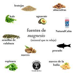Fuentes de magnesio (mineral que te relaja)