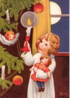Rudolf Koivu, Finland Swedish Christmas, Old Christmas, Merry Little Christmas, Scandinavian Christmas, Christmas Wrapping, Country Christmas, Vintage Christmas, Xmas, Vintage Children's Books