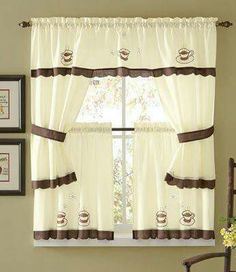 Cortinas De Cocina · Cafe CurtainsKitchen ...