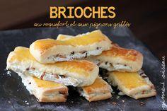 Brioches au roquefort & pignons grillés- Blue cheese & roasted pine nuts brioches