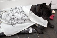 Throwback to Dolly wrapping herself up in a Mr Gordo tea towel. Tea Towels, French Bulldog, Wrapping, Wraps, Friends, Dogs, Animals, Amigos, Dish Towels