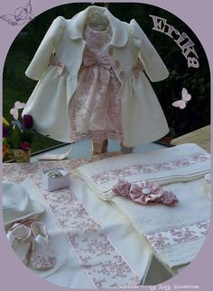 Baptism layette Childrens Party Dresses, Baby Girl Party Dresses, Dresses Kids Girl, Baby Dress, Kids Outfits, Flower Girl Dresses, Baby Birthday Dress, Birthday Dresses, Blogger Moda