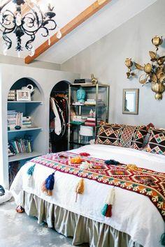 Ethno-Muster für Schlafzimmer Textilien