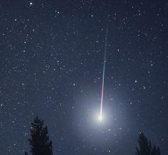 A meteorite falling to earth