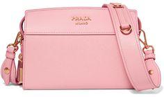 Prada - Esplanade Smooth And Textured-leather Shoulder Bag - Pink http://shopstyle.it/l/cgAk