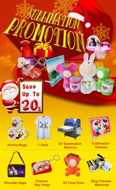 New Year's gift-20% cash discount for sublimation products