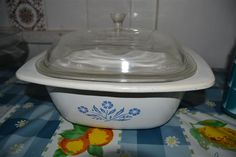 Corningware Patterns   Casserole Dishes - Corningware - Cornflower Pattern - Large Casserole ...
