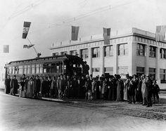 First Street Car arriving in Van Nuys 1911, San Fernando Valley