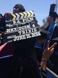 Film major college graduation cap UCSB c/o '14