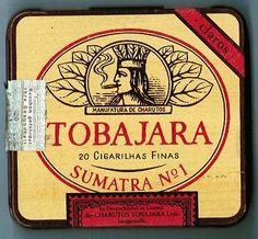 S22X - Scatola di latta  TOBAJARA SUMATRA N° 1 -  Cigarette Tobacco