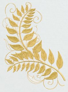 Golden Laurels  Embroidered Decorative by EmbroideredbySue on Etsy