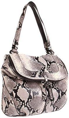 ORYANY Grey Snake Embossed Leather Shoulder Handbag Bag Wristlets cf30120977f60