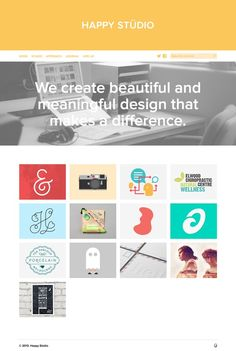 flat design - web agency portfolio