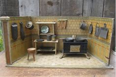 Old German kitchen.