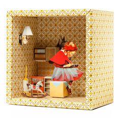 Boite-deco-3D-mural-petit-chaperon-rouge