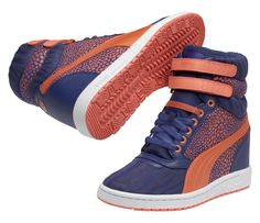 ba21970b24cd Sky Wedge Reptile in blue  PUMA  PUMAstyle  sportfashion  wedges  reptile