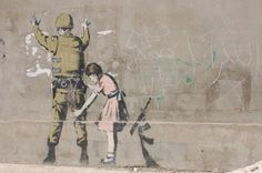 Girl Frisking Soldier - The roles have turned, and the little girl wants to know what is this warmonger doing in her town. Rightfully so.