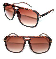 bf102e978f4 Aviator Vintage Men  s Retro Sunglasses Rubber Matte Brown Gold Grandmaster  504