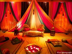 indian wedding reception lighting decor http://maharaniweddings.com/gallery/photo/4952
