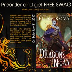 THE DRAGON'S OF NOVA BY ELISE KOVA (COVER REVEAL EXCERPT & #GIVEAWAY)