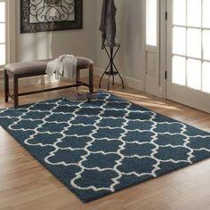 Mainstays Trellis 2-Color Shag Area Rug - Walmart.com