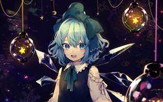Download wallpapers Cirno, art, anime characters, manga, Touhou