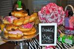 donut tower breakfast bar for sleepover birthday party!