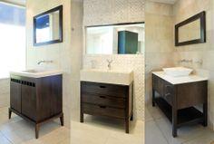 Muebles de Madera para tu baño. Que estilo te representa más? Pondrías un mueble así en tu baño?