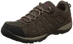 Columbia Men's Redmond Waterproof Hiking Shoe, Mud, Garnet Red, 9 D US. For product & price info go to:  https://all4hiking.com/products/columbia-mens-redmond-waterproof-hiking-shoe-mud-garnet-red-9-d-us/