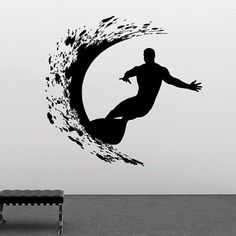 Extreme Surfer Wall Sticker