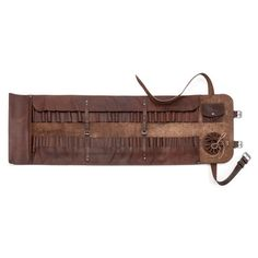 Full on leather tool roll.