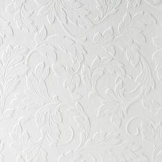 Paintable Wallpaper- Classic Leaves.Opens in a new window