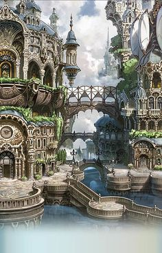 Architecture ~ Fantasy Landscape RPG gaming Fantasy SFF Dungeons & Dragons D&D DnD Tabletop Tabletop Gaming Sword & Sorcery gamer