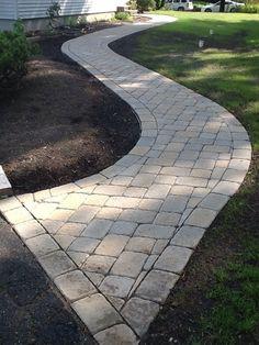 #Paver #walkway #backyardlandscapediystonewalkways #landscapingdiy  #LandscapingDIY