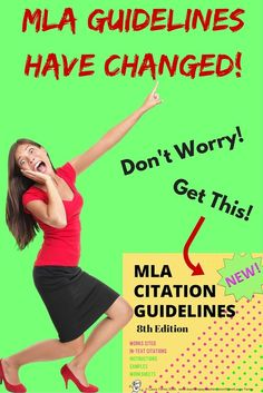 It's true! New MLA guidelines were released in April 2016. Get everything you and your students need here! Rules, examples, worksheets, and charts. Just print and go! $