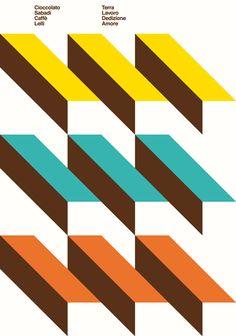 Cioccolato Sabadì + Caffè Lelli  poster di artiva design  ricetta di Simone Sabaini