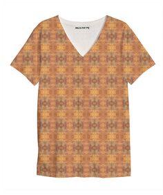 Heart Waves V Neck Shirt. $44. 100% cotton jersey /// multicolor, texture, bold, bright, pattern, bohemian, boho