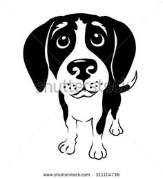 cartoon illustration of a beagle dog