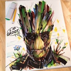 """""""Another one of @old1eye's. Tag a friend who loves #guardiansofthegalaxy! #markers #copic #artbotic #artist"""" Photo taken by @artbotic on Instagram, pinned via the InstaPin iOS App! http://www.instapinapp.com (03/04/2015)"""