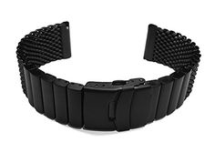 22mm Heavy Stainless Steel PVD Wire Mesh Bracelet Watch Band Strap Solid Removable Links -- You can find more details by visiting the image link.
