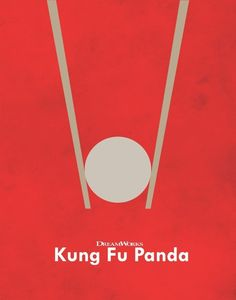 Minimalist Movie Posters A Study of Minimalism by Adam Thompson -Kung Fu Panda Best Movie Posters, Minimal Movie Posters, Minimal Poster, Cinema Posters, Movie Poster Art, Poster S, Graphic Posters, Poster Ideas, Poster Marvel