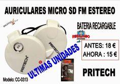 Digit@L Chip - Informática - Sonido: REBAJADO - PRITECH CC-0313  AURICULARES MICRO SD R...