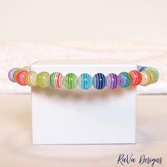 rainbow beads bracelet handmade memory wire jewelry bracelets wrist candy Memory Wire Jewelry, Wooden Jewelry, Jewelry Rack, Jewelry Bracelets, Diy Bracelet Storage, Handmade Wooden, Handmade Bracelets, Bracelet Making, Rainbow