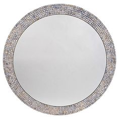 """Mother-of-Pearl 36"""" Wall Mirror, Blue"""